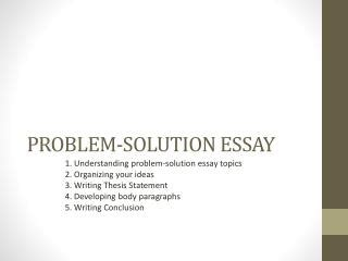Problem Solution Essay Example From An Expert Writer